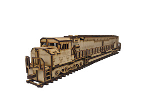 3D Wooden Puzzle, Craft Model Kit for Adults and Kids, Union Pacific Locomotive