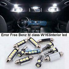 12Pcs White LED Interior Light Kit For 2000-2005 Mercedes Benz M class W163 M