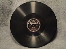 "78 RPM 10"" Record Harry Owens The Laughing Song & My Tane Capitol Records 20002"