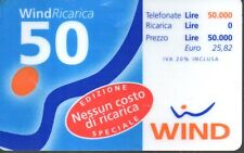 44-Scheda telefonica Phone Card  Wind  50  06/2000 Lire 50.000