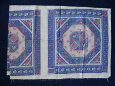 """Cotton Fabric - Blue and Multicolor Panels - 32"""" x 45"""""""