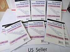 100X-3 Part Sales Order Books Receipt Triplicate forms 30 sets Invoice FREE SHIP