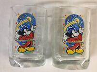 McDonalds 2000 Mickey Mouse Walt Disney World Celebration Glasses ~ Set of 2