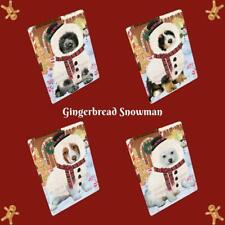 Christmas Gingerbread Snowman Dog Cat Pet Photo Tempered Glass Cutting Board