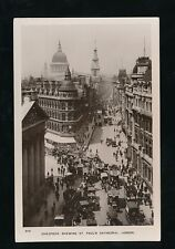 LONDON Cheapside Shewing St Pauls RP PPC Regent Series #306