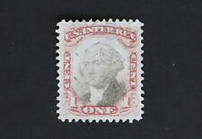 1c Scott #R134 Claret & Black US Revenue Stamp - Third Issue 1871-72
