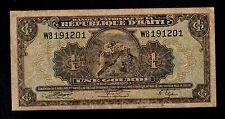 HAITI   1  GOURDE   L. 1919 ( 1950 )   PICK # 174   VG-F