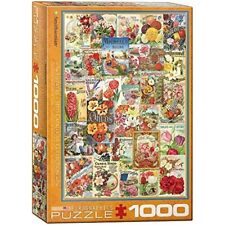 Eurographics Puzzle 1000pc -flowers Seed Catalogue - Flowers 1000piece