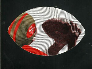 San Francisco 49ers--1975 Diecut Football Shaped Pocket Schedule--Roos Atkins