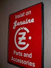 CZ Jawa Motorcycle Garage Gen.Parts Framed Advertising Print Man Cave Sign