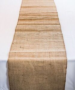 Tablecloth Runner Burlap Natural 14 X 108 Inch By Broward Linens