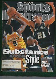 KOBE BRYANT - TIM DUNCAN - NBA HOF - SPORTS ILLUSTRATED MAGAZINE - MAY31, 1999