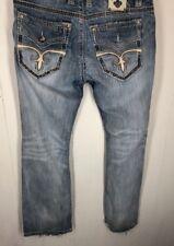 Rock Revival Jeans size 34 Ecton Slim Boot Men's blue denim distressed