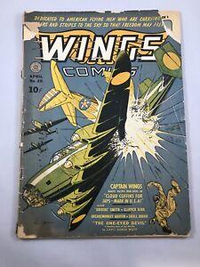 Wings Comics #20 10¢ Golden Age Comic Fiction House (1940)
