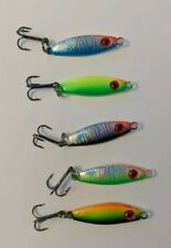(5) Jigging Spoons Glow Ice Fishing