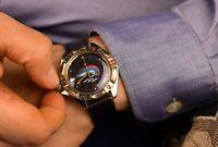 Vintage Vostok Komandirskie Wristwatch For Men Military 90's Watch Black Strap