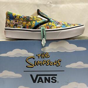 Vans x The Simpsons Springfield Comfycush Slip-On Men's Size 8.5