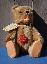 "Vintage Nwt Ltd Ed Hermann Tan Original Mohair Jointed ""Circus Bear"" Teddy Bear"
