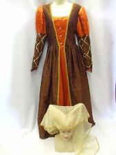 Tudor Lady ~ Orange & Navy Gown & Hat 92 ~ Medieval ~ Hire quality  ~ Size 14-16