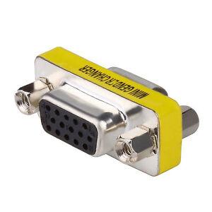 15 Pin VGA SVGA Female to Female Plug Coupler gender Changer Converter Adapter