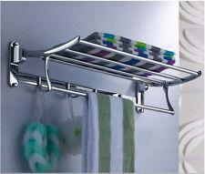 Bathroom Brass Clothes Towel Racks Shelf Towel Storage Holder Wall Mounted