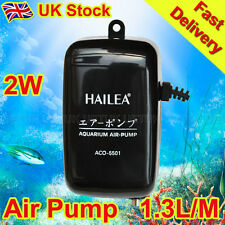 Aquarium Fish Tank Air Pump 2W 1.3L/Min Super Silent Design - ACO-5501 -UK