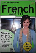Instant Immersion Language Software  French  Levels 1 2  3 and 5 User edition
