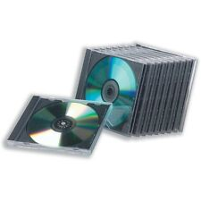 10 Plain Empty Hard CD Cases / Strong Clear Top CD Boxes for CDS DVDS or BLURAY