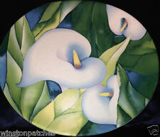 """SANGO OBSESSION 4878 STONEWARE CALLA LILIES 11"""" DINNER PLATE TROPICAL"""