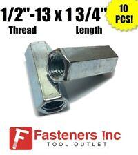 Qty 10 12 13 X W1116 X L 1 34 Coarse Grade A Hex Rod Coupling Nut Zinc