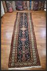 Brilliant Dark-Navy Antique 4x15 Zanjan-Style Oriental Runner Rug