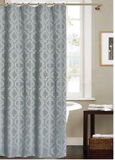 Grey Jacquard Fabric Shower Curtain: Elegant Moroccan Design