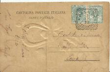 Cartolina con gemelli 5 cent. Stemma-Floreale 3.12.1902 - Rara