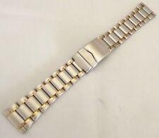 bracciale acciaio bicolor maglia sea doppia chiusura sicurezza sub dritta 22 mm