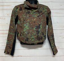 Reebok Jacket Moto Alicia Keys Camo Women's Size Small Zip Up Black Crop Fit