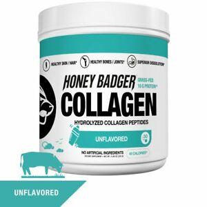 Honey Badger Natural Keto Collagen Peptides Protein Powder | Gluten Free Paleo