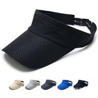 Mens Adjustable Tennis Running Sports Quick-dry Cap Sun Visor Headband Hat Vizor