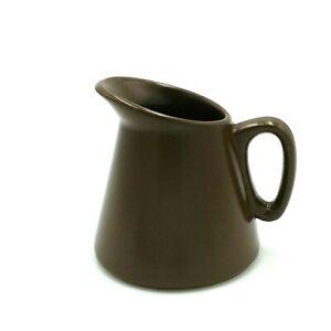 Mid Century Diana Pottery Small Milk Jug 150mls Brown U175 Australia 1960s