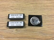 Korg 01/W EPROM with last OS (#62) and a CR2032 battery