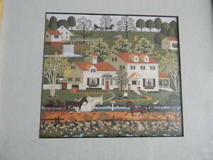 Framed CHARLES WYSOCKI American Folk Art Print GINGER NUT VALLEY 9x11 EXC