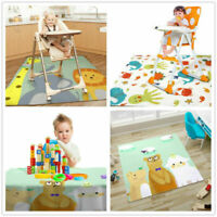 Anti-slip Baby Kid Washable Rugs Cover Highchair Food Splash Floor Mat Protector