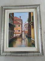 'Venetian glimpse' original painting by L Cerocchi with original certificate