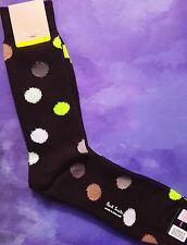 Paul Smith Mens English Socks UK Polka Medium Thickness Black F986 Cotton 1-Size