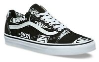 VANS OLD SKOOL (LOGO MIX) CANVAS BLACK WHITE SKATE SHOES MENS SZ 10.5 NEW⚡️