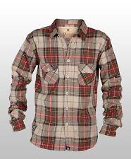 Camicie casual e maglie da uomo a manica lunga in cotone rosso