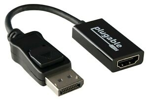Plugable Monitor Adapter - DisplayPort to HDMI (4K @ 60Hz)