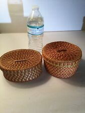 New ListingWoven Baskets With Lids with Color Round & Oval Sweetgrass?