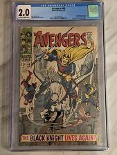 Avengers #48 CGC 2.0 First app Dane Whitman as Black Knight Marvel 1968 ETERNALS