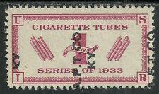 U.S. Revenue Cigarette Tubes stamp scott rh3 - 1 cent issue of 1933
