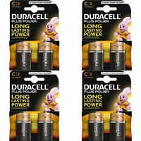 8 x Duracell Plus Power Type C Alkaline Batteries Pack - LR14 MN1400 MX1400 BABY